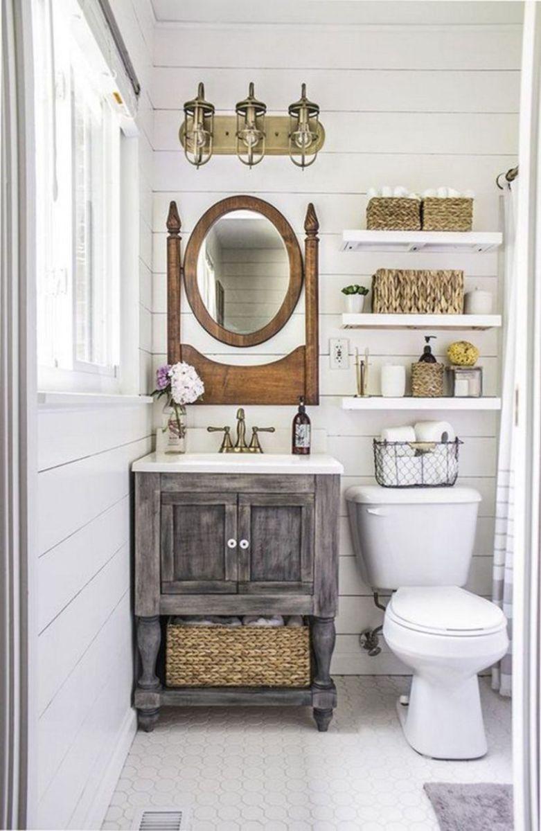 Vintage farmhouse bathroom ideas 2017 (48)