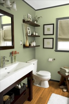 33 vintage paint colors bathroom ideas - round decor