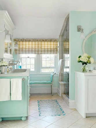 Vintage paint colors bathroom ideas (25)