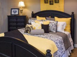Visually pleasant yellow and grey bedroom designs ideas 02