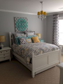 Visually pleasant yellow and grey bedroom designs ideas 29