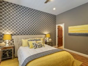 Visually pleasant yellow and grey bedroom designs ideas 30