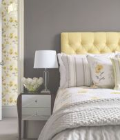 Visually pleasant yellow and grey bedroom designs ideas 34