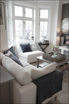 White furniture living room ideas for apartments 39