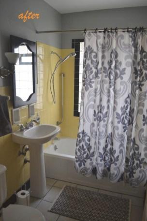 Yellow tile bathroom paint colors ideas (12)