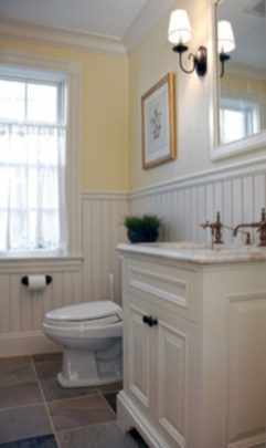 Yellow tile bathroom paint colors ideas (15)