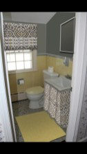 Yellow tile bathroom paint colors ideas (34)