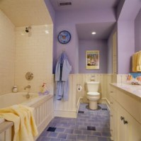Yellow tile bathroom paint colors ideas (44)