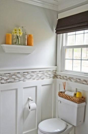 Yellow tile bathroom paint colors ideas (45)