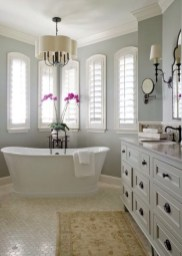 Yellow tile bathroom paint colors ideas (49)