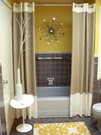 Yellow tile bathroom paint colors ideas (5)