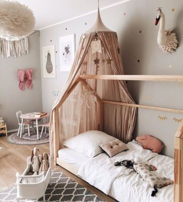 cool kids bedroom with pink colour 01