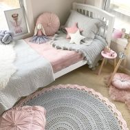 Cool kids bedroom with pink colour 03