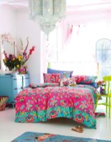 Cool kids bedroom with pink colour 16
