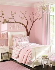 Cool kids bedroom with pink colour 19