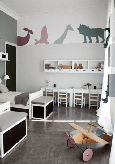 Cool kids bedroom with pink colour 25