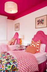 Cool kids bedroom with pink colour 42