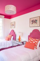 Cool kids bedroom with pink colour 43