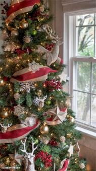 Brilliant ideas christmas tree decoration ideas with ribbon 09