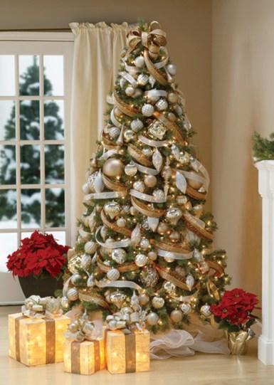 Brilliant ideas christmas tree decoration ideas with ribbon 26