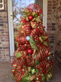 Brilliant ideas christmas tree decoration ideas with ribbon 44