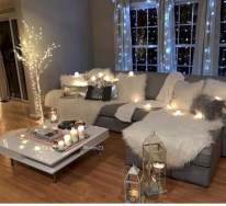 Cozy christmas decoration ideas for your apartment 02