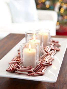 Creative diy christmas table centerpieces ideas 05
