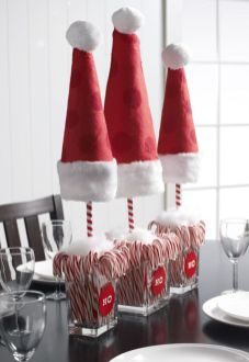 Creative diy christmas table centerpieces ideas 13