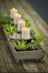 Creative diy christmas table centerpieces ideas 25