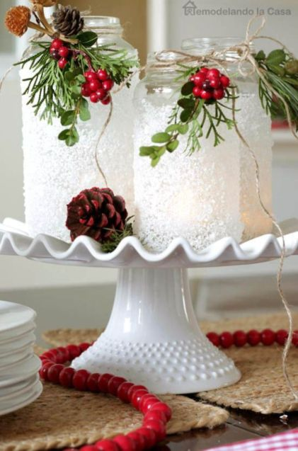 40 creative diy christmas table centerpieces ideas round Diy christmas table decorations