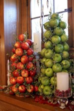 Easy christmas fruit tree centerpieces ideas 04