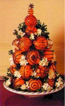 Easy christmas fruit tree centerpieces ideas 10