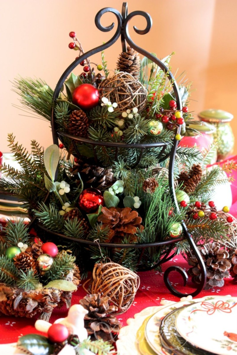 Easy christmas fruit tree centerpieces ideas round decor