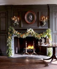 Elegant white fireplace christmas decoration ideas 09