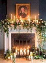 Elegant white fireplace christmas decoration ideas 28
