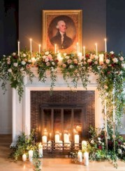 Elegant white fireplace christmas decoration ideas 28