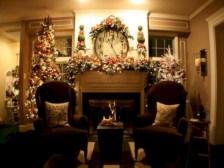 Elegant white fireplace christmas decoration ideas 29