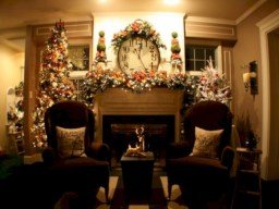 Elegant white fireplace christmas decoration ideas 29