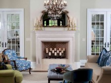 Elegant white fireplace christmas decoration ideas 31