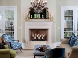 Elegant white fireplace christmas decoration ideas 31