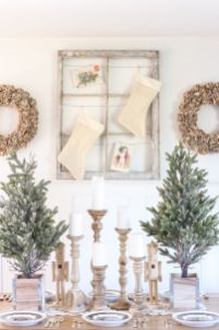 Inspiring farmhouse christmas table centerpieces ideas 06