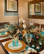 Modern christmas table centerpieces ideas you will totally love 37