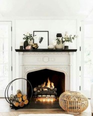 Modern farmhouse fireplace christmas decoration ideas 13