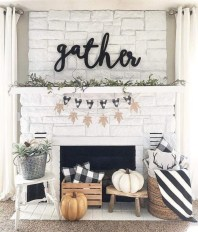 Modern farmhouse fireplace christmas decoration ideas 14