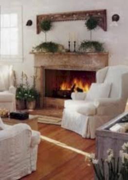 Modern farmhouse fireplace christmas decoration ideas 17