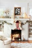 Modern farmhouse fireplace christmas decoration ideas 31