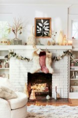 Modern farmhouse fireplace christmas decoration ideas 31