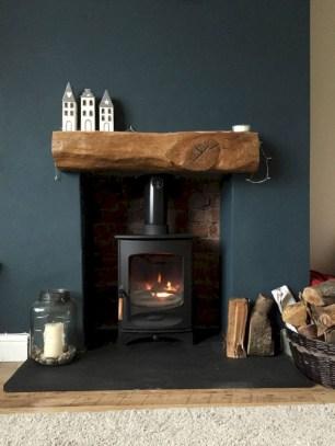 Modern farmhouse fireplace christmas decoration ideas 36