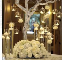 Romantic christmas tree wedding centerpieces ideas 03