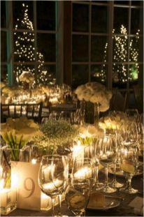 Romantic christmas tree wedding centerpieces ideas 16